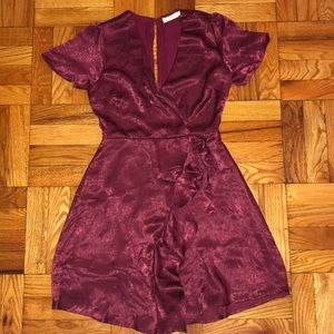 Dark wine colored mini dress